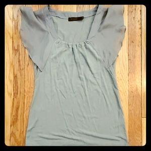 Gray flitter sleeves top